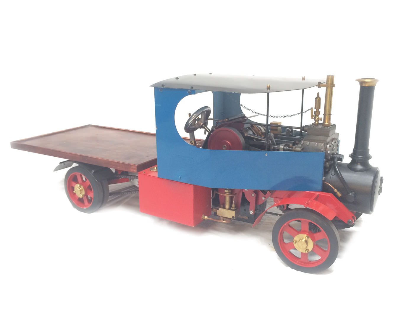 test 2 scale foden steam lorry live steam model for sale 22