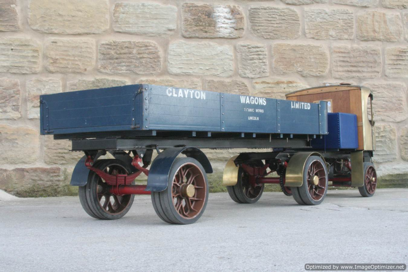 test 2 inch scale Clayton live steam lorry for sale 08-Optimized