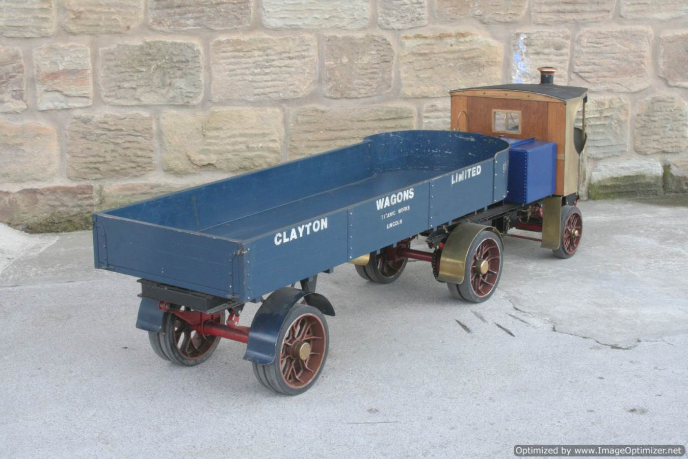 test 2 inch scale Clayton live steam lorry for sale 09-Optimized