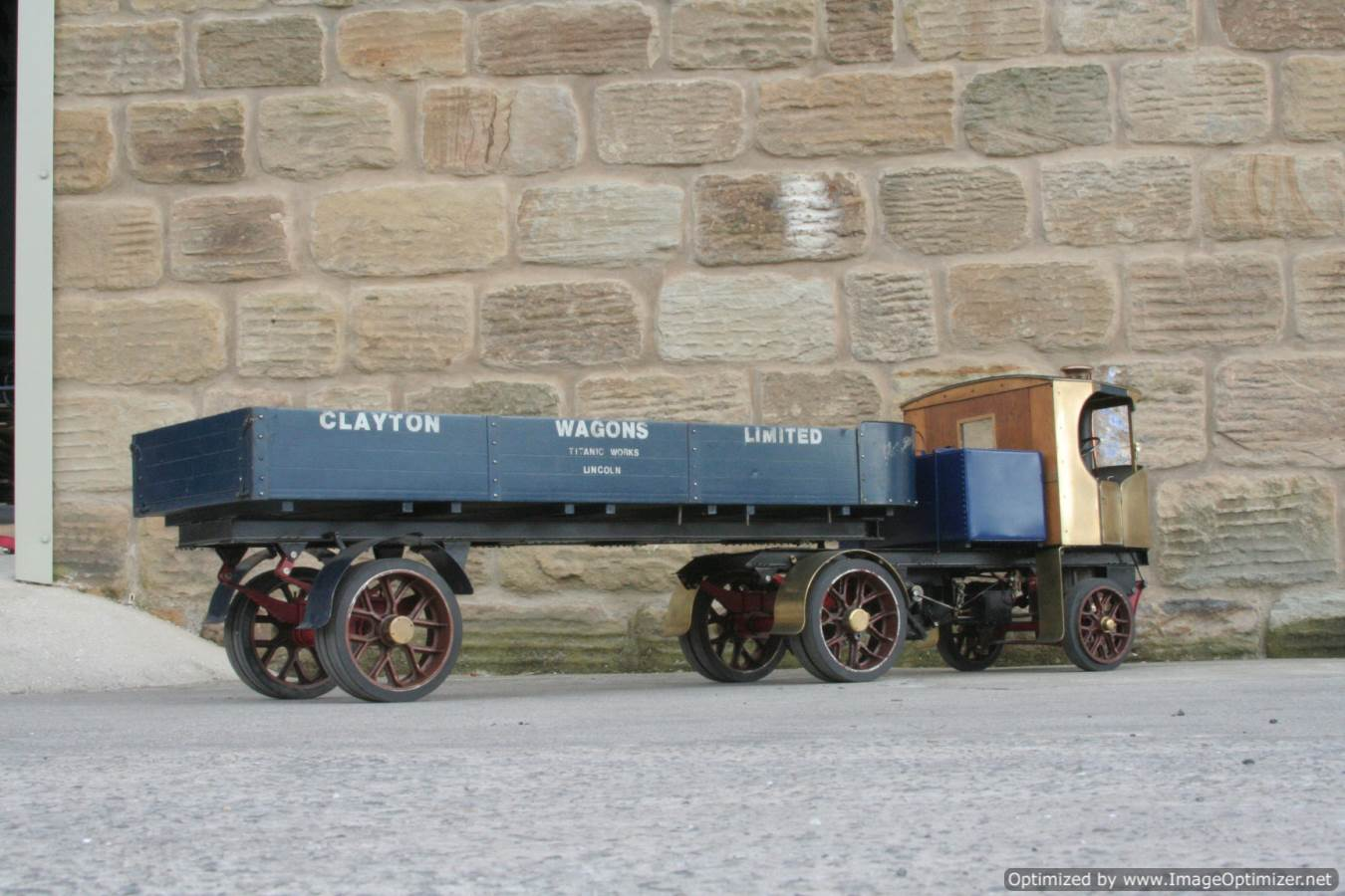 test 2 inch scale Clayton live steam lorry for sale 10-Optimized