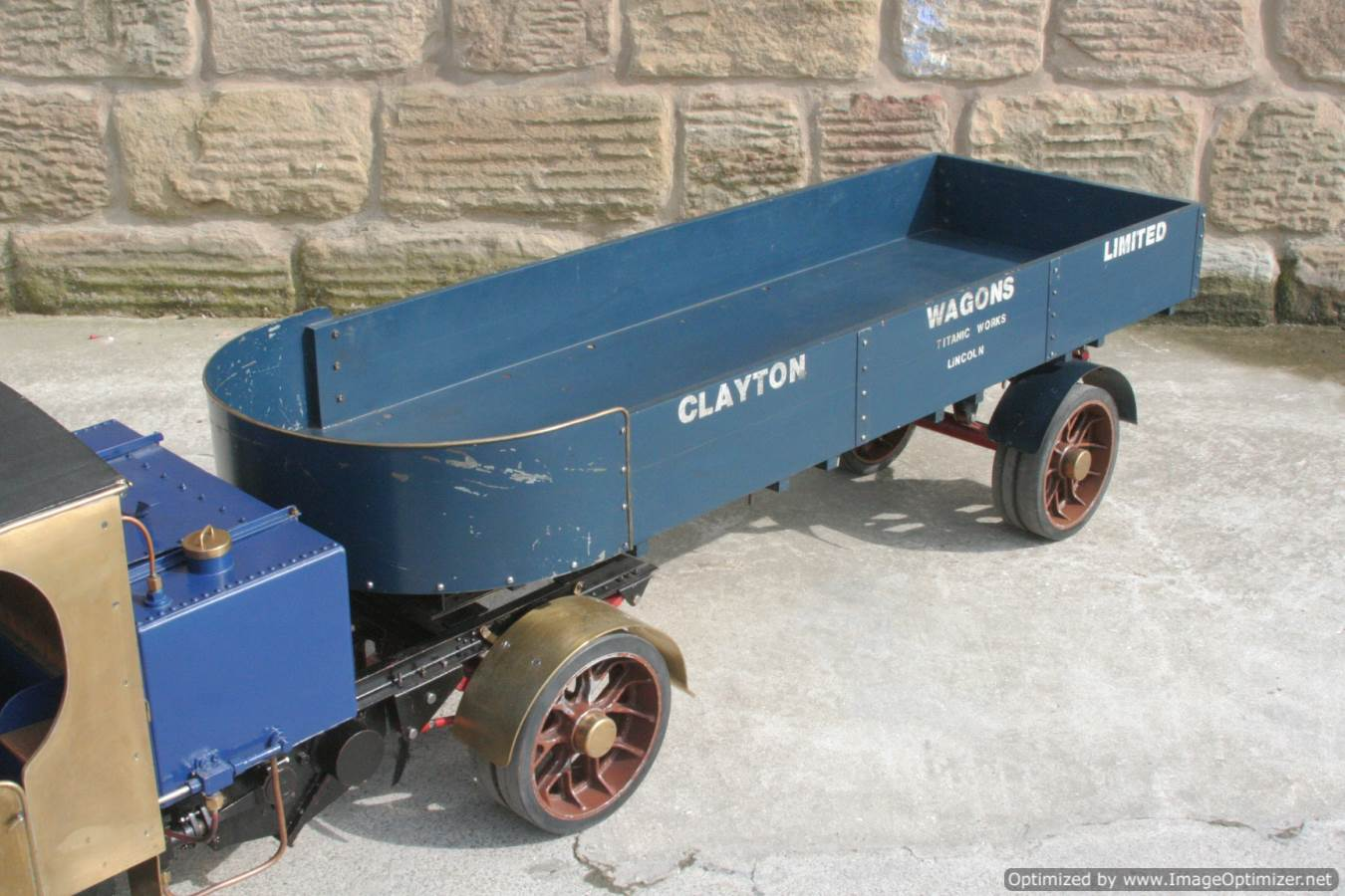 test 2 inch scale Clayton live steam lorry for sale 14-Optimized