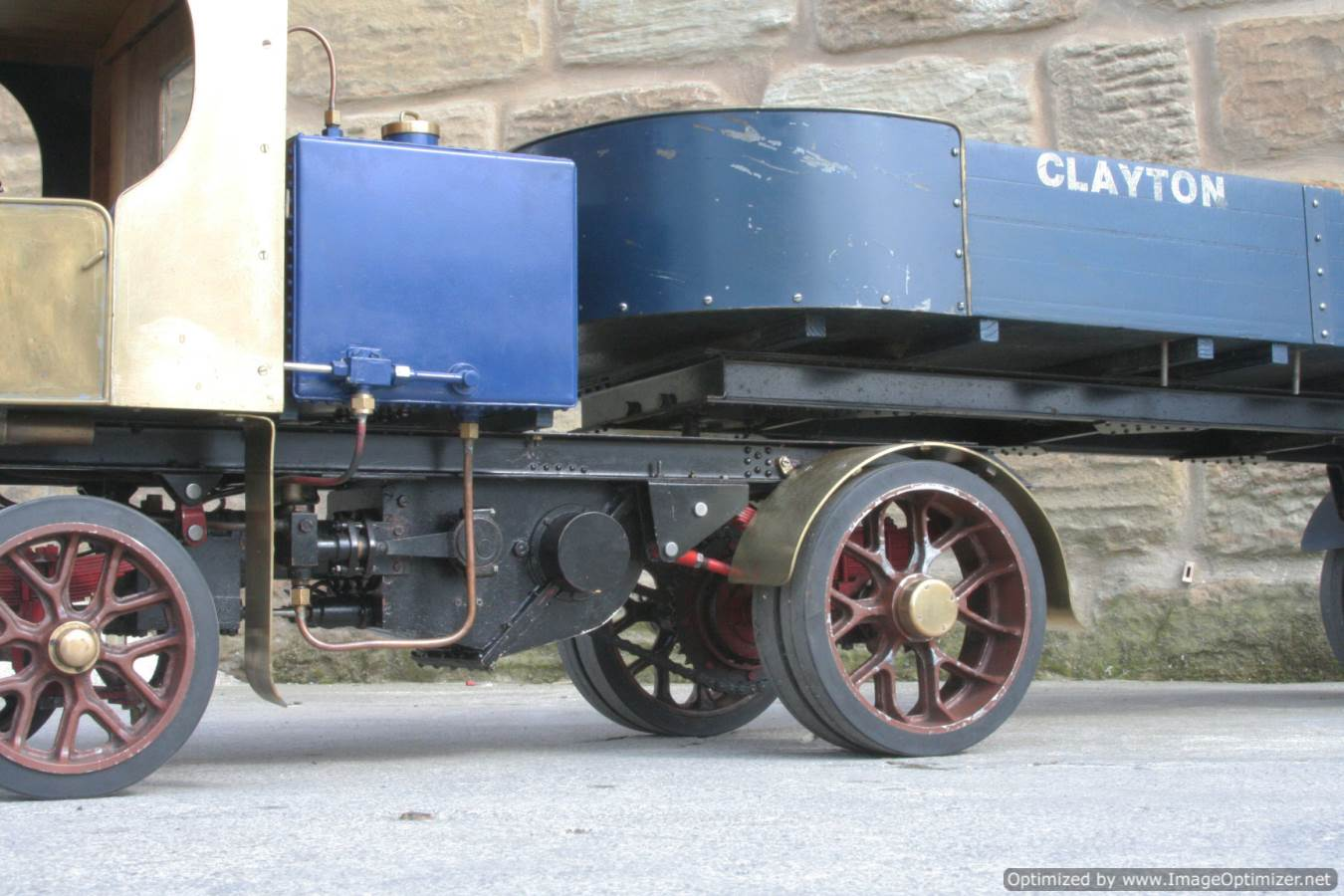 test 2 inch scale Clayton live steam lorry for sale 16-Optimized