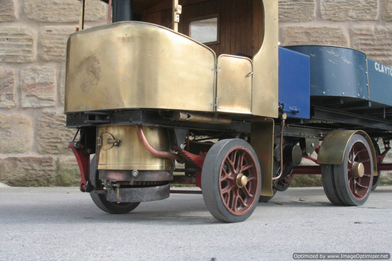test 2 inch scale Clayton live steam lorry for sale 17-Optimized