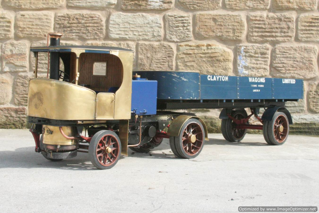 test 2 inch scale Clayton live steam lorry for sale 18-Optimized