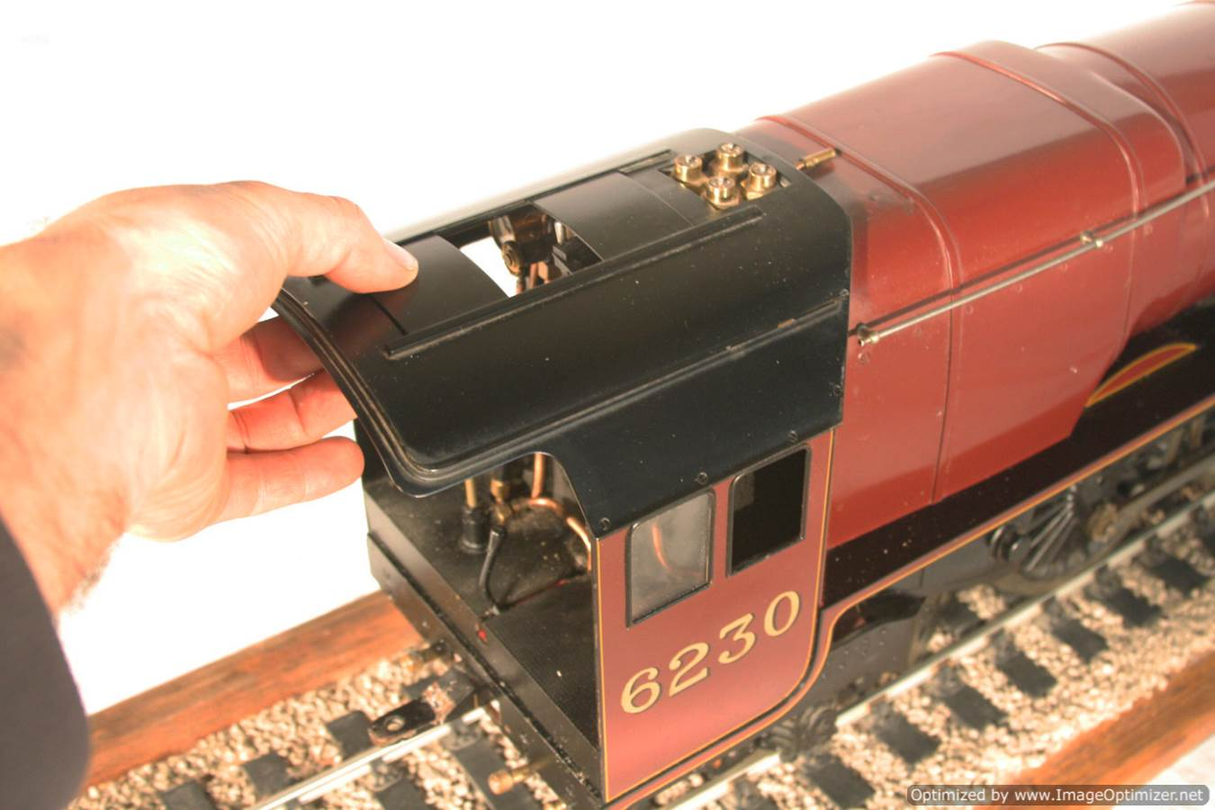 test 3 gauge LMS Stanier Duchess locomotive live steam model for sale 02-Optimized