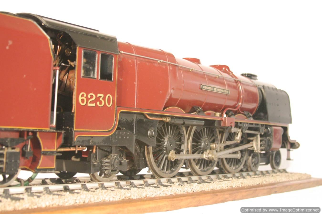 test 3 gauge LMS Stanier Duchess locomotive live steam model for sale 08-Optimized