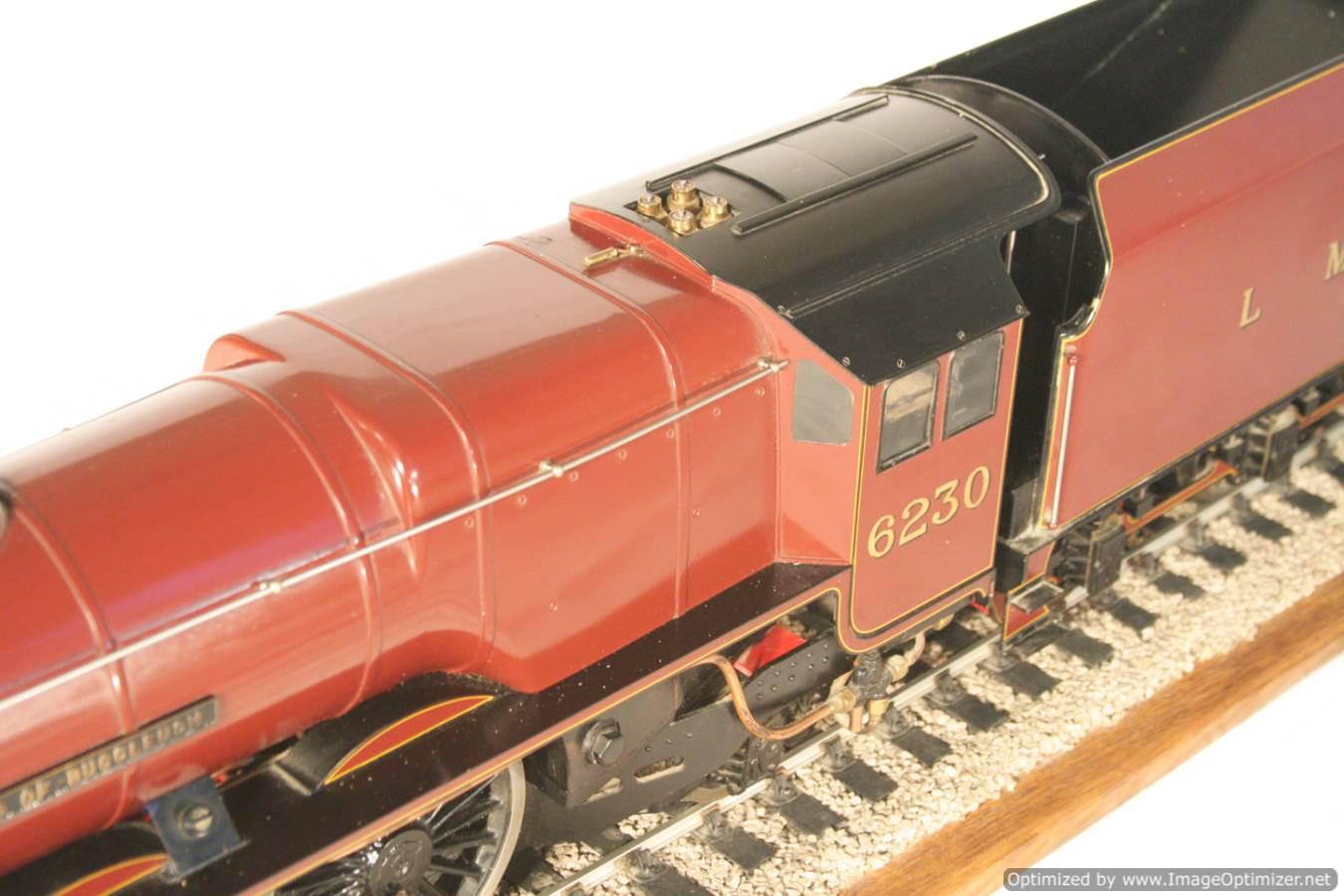 test 3 gauge LMS Stanier Duchess locomotive live steam model for sale 10-Optimized