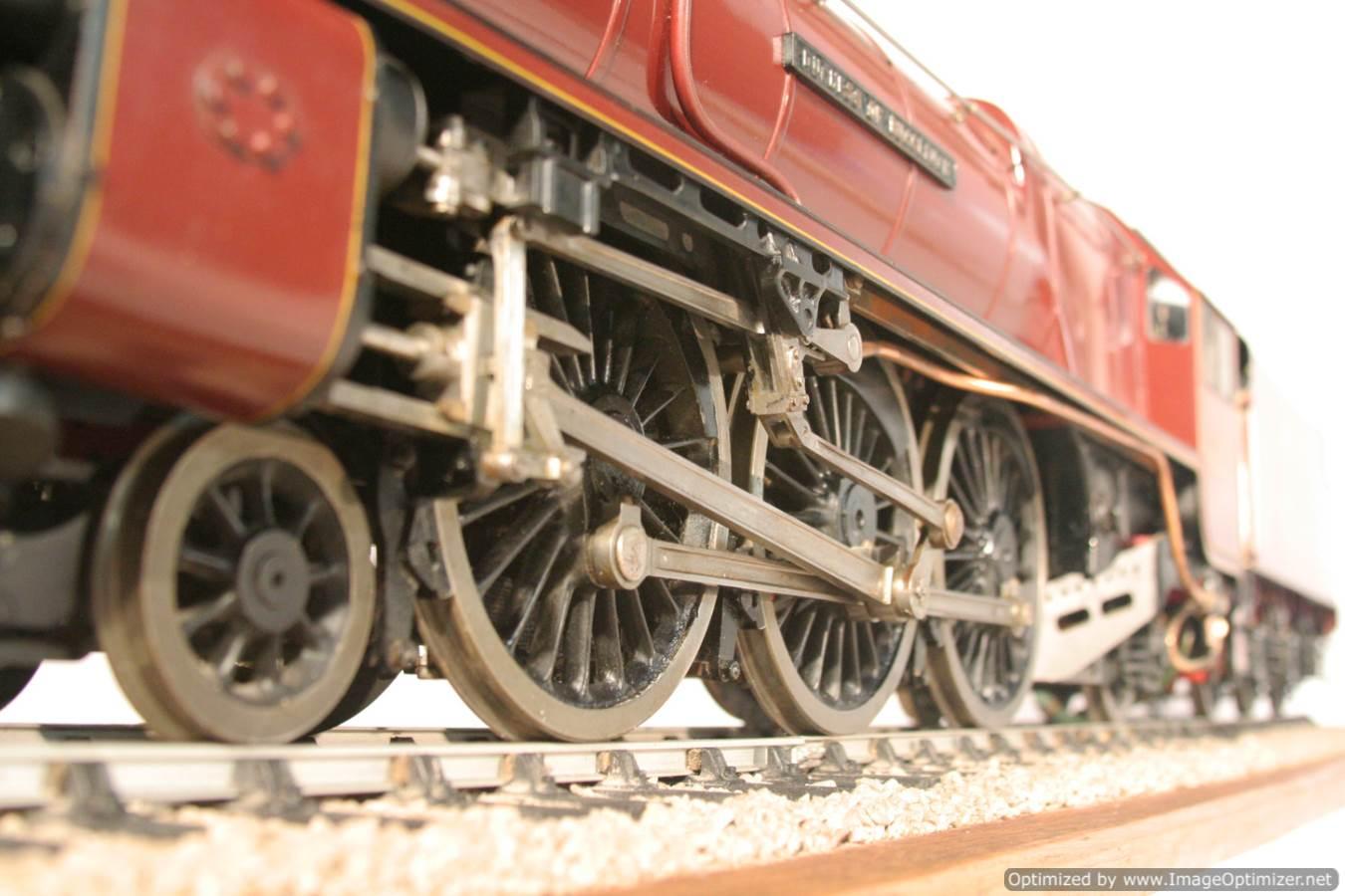 test 3 gauge LMS Stanier Duchess locomotive live steam model for sale 11-Optimized