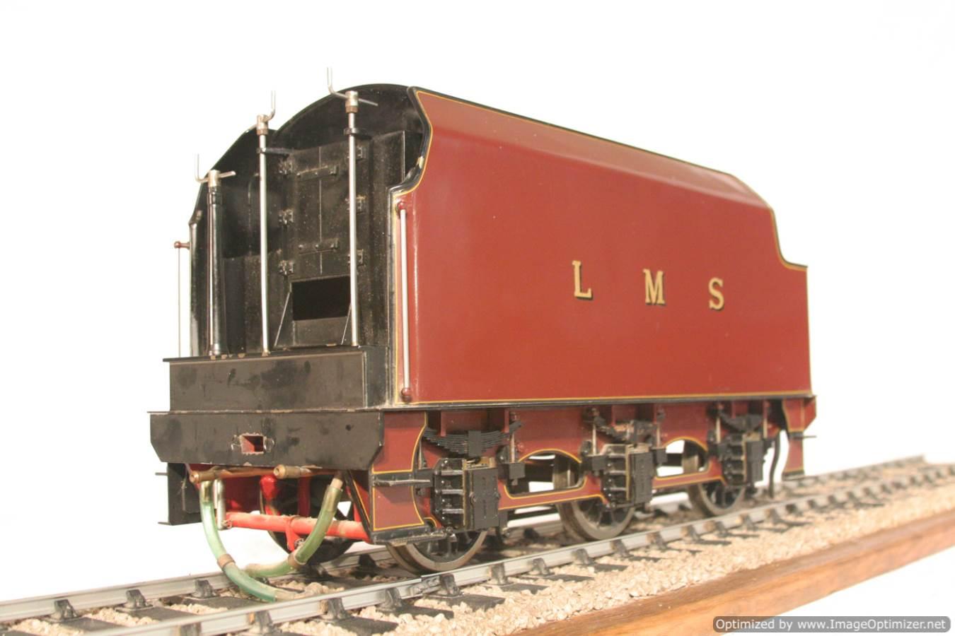 test 3 gauge LMS Stanier Duchess locomotive live steam model for sale 18-Optimized
