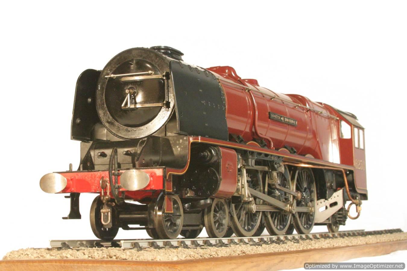 test 3 gauge LMS Stanier Duchess locomotive live steam model for sale 21-Optimized