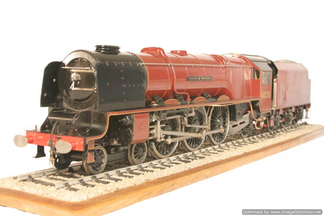 test 3 gauge LMS Stanier Duchess locomotive live steam model for sale 27-Optimized