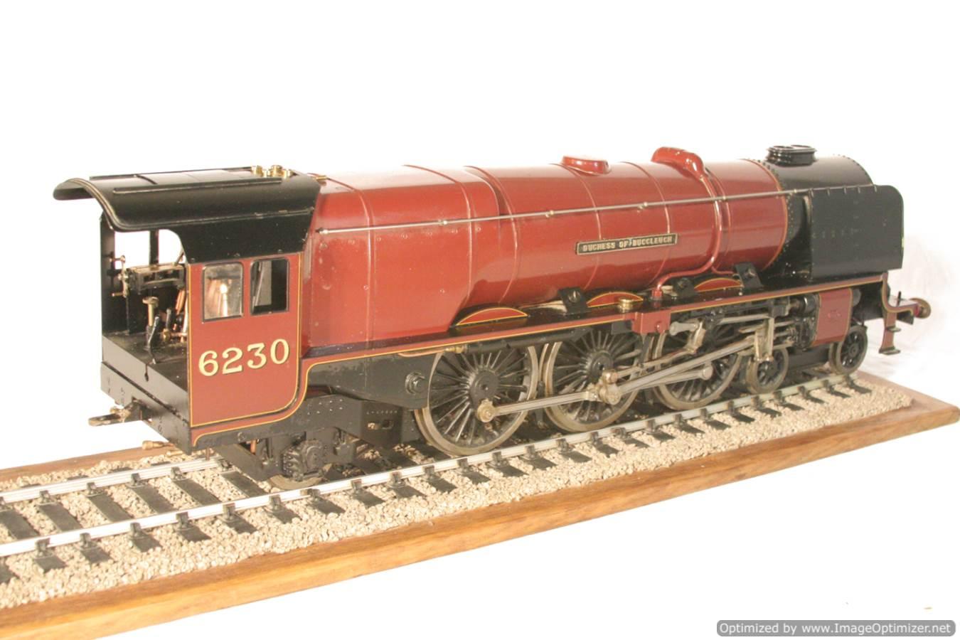 test 3 gauge LMS Stanier Duchess locomotive live steam model for sale 29-Optimized