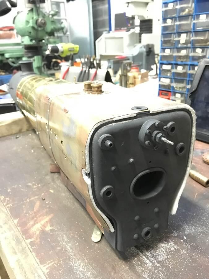 test 3 half inch gauge LMS Jubilee rebuild boiler lagging