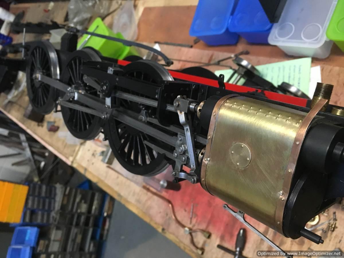 test 3 half inch gauge LMS Jubilee rebuild cylinder cladding