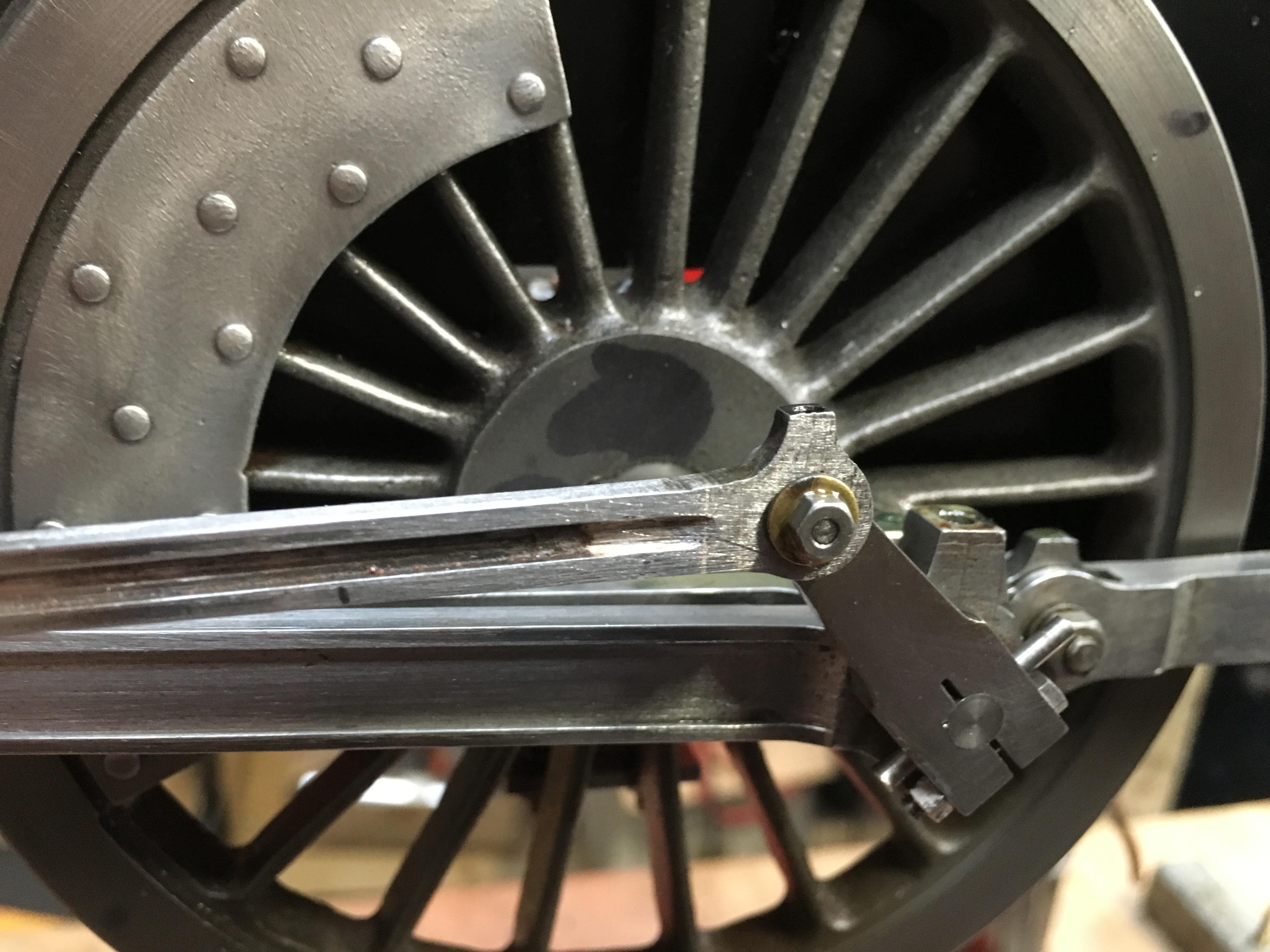 test 3 half inch gauge LMS Jubilee rebuild eccentric rod lengthened