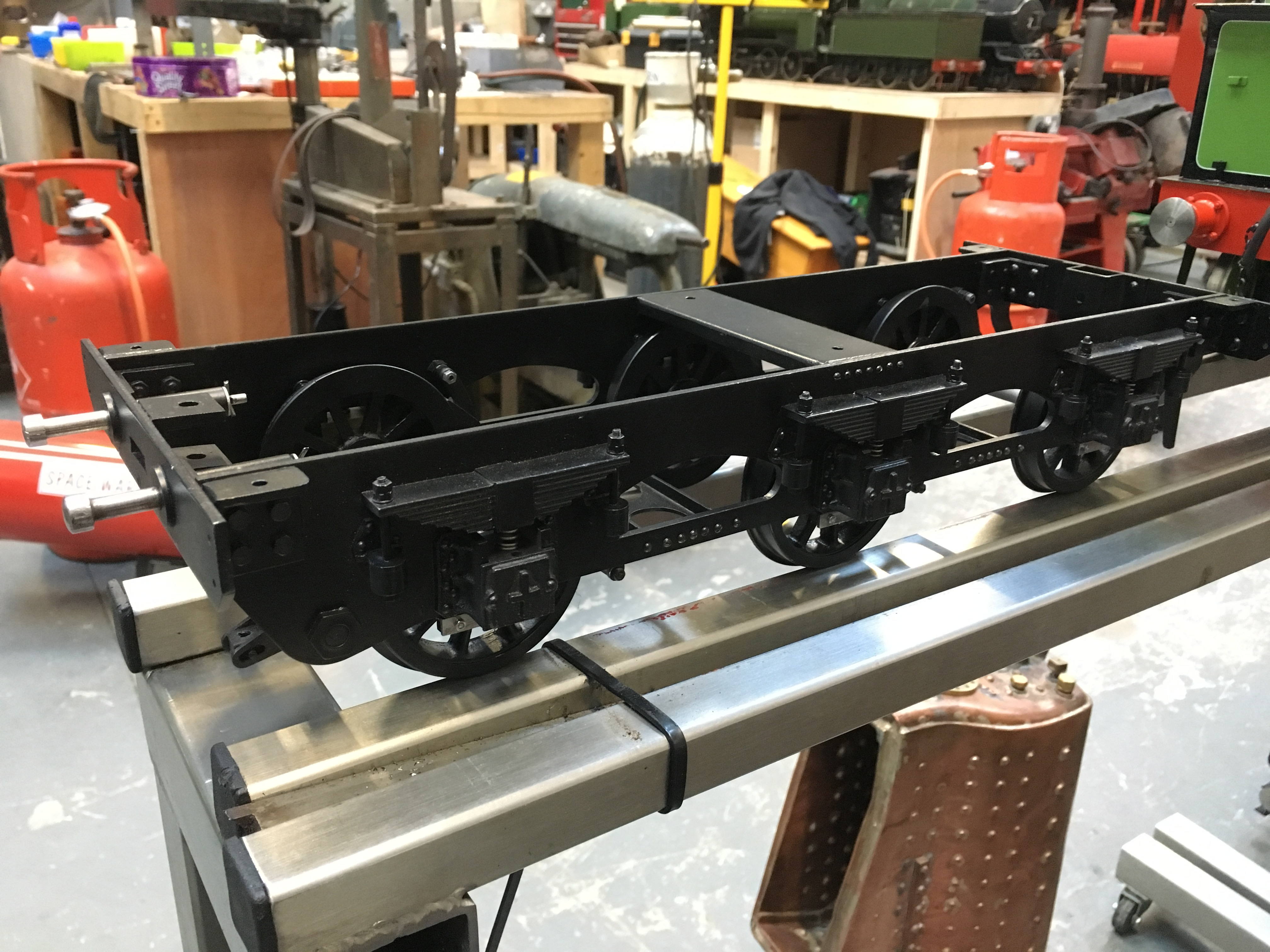 test 3 half inch gauge LMS Jubilee rebuild tender chassis 01