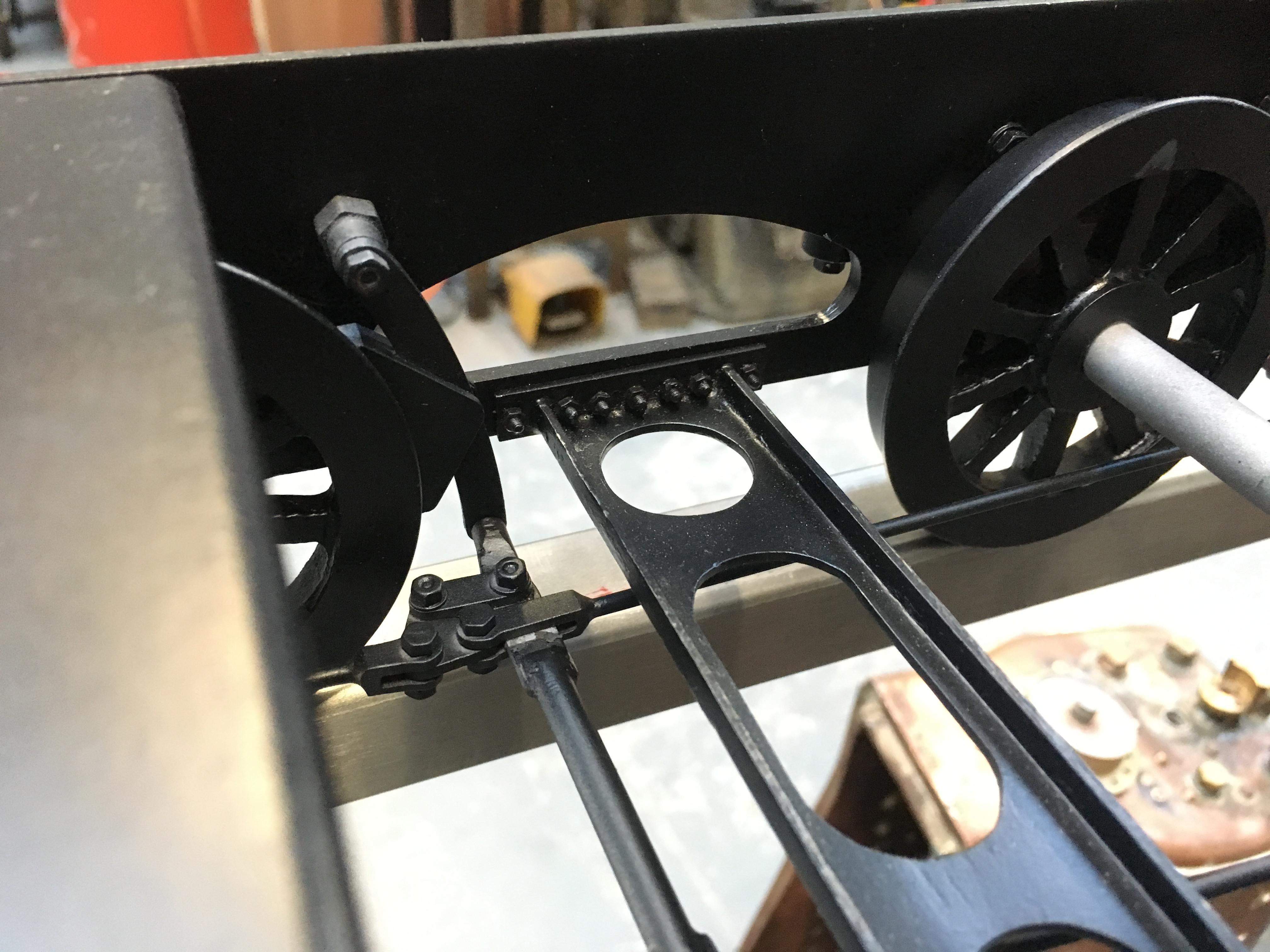 test 3 half inch gauge LMS Jubilee rebuild tender frame stretcher detail
