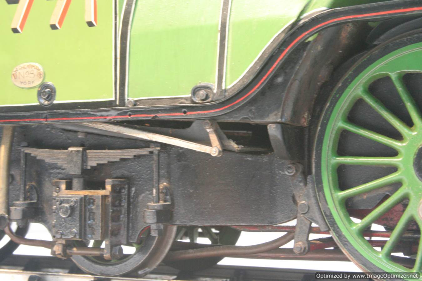 test 3 and a half inch gauge LNER V2 Green Arrow live steam model for sale 14-Optimized