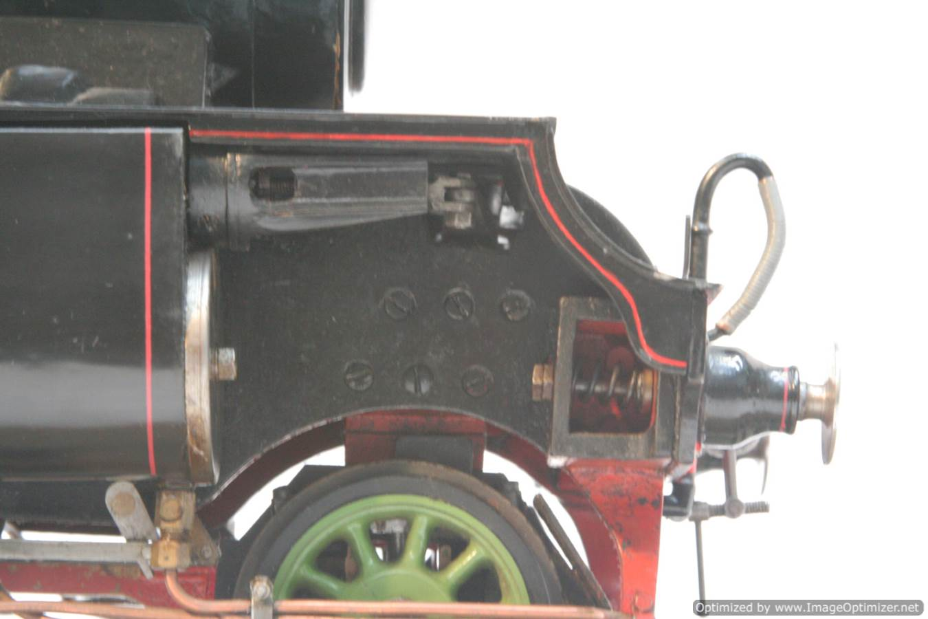 test 3 and a half inch gauge LNER V2 Green Arrow live steam model for sale 15-Optimized