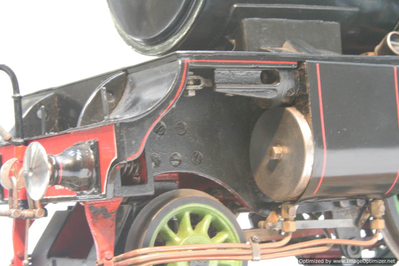 test 3 and a half inch gauge LNER V2 Green Arrow live steam model for sale 22-Optimized