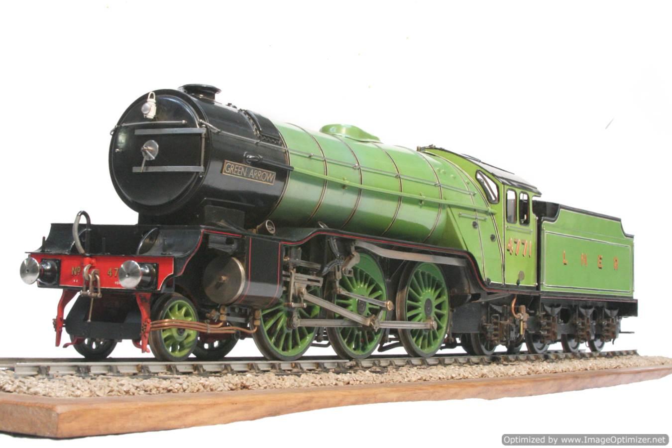test 3 and a half inch gauge LNER V2 Green Arrow live steam model for sale 25-Optimized