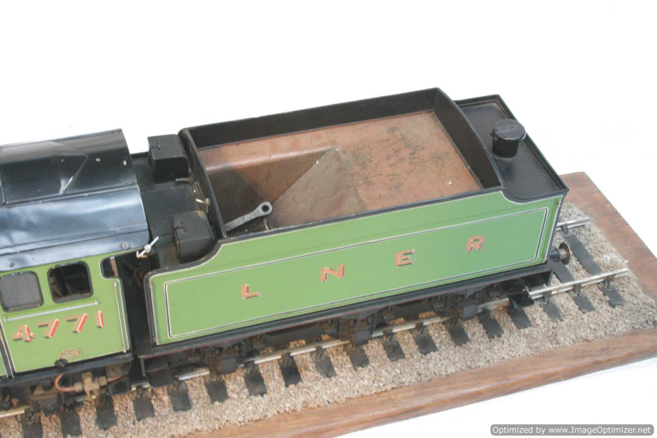 test 3 and a half inch gauge LNER V2 Green Arrow live steam model for sale 26-Optimized