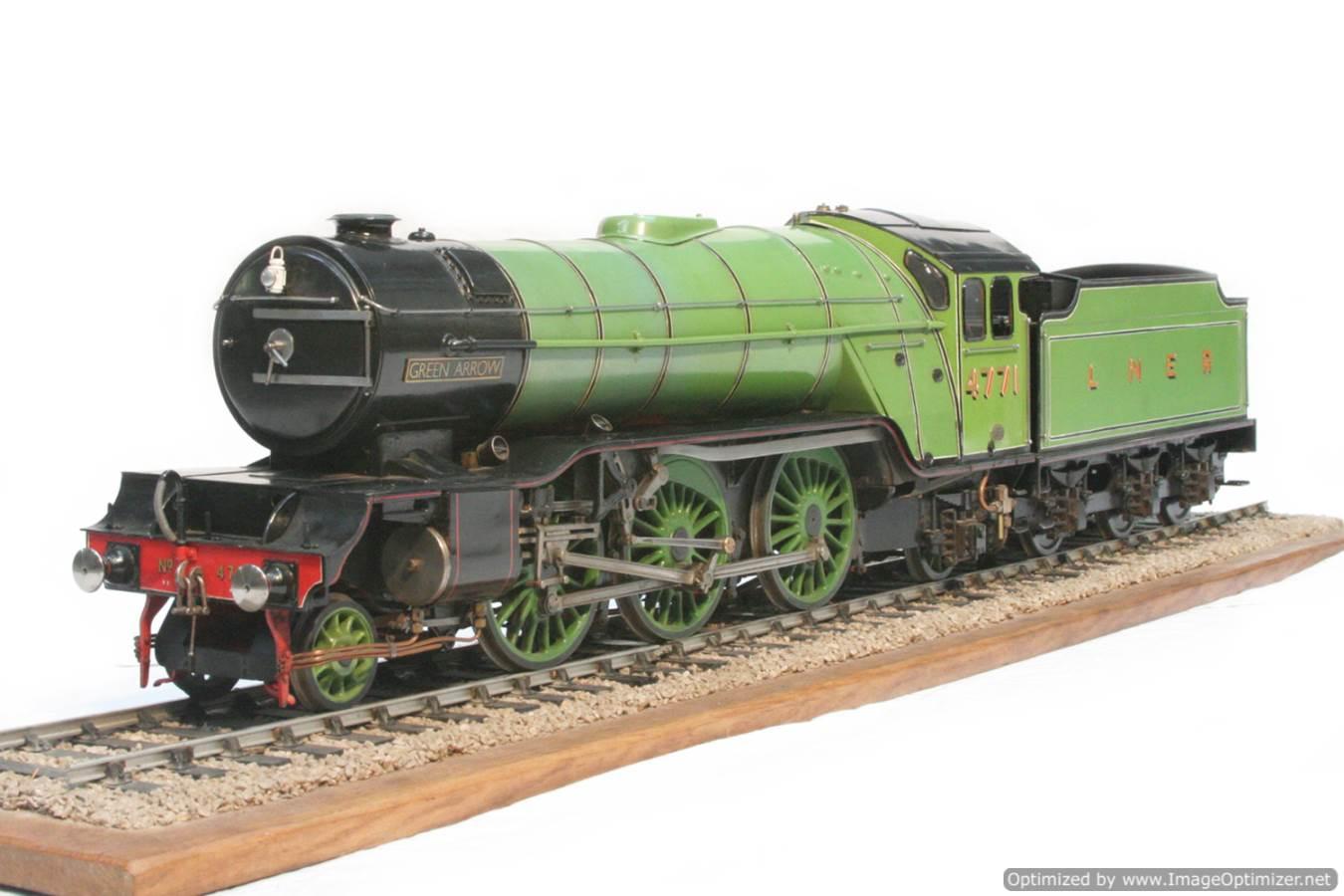 test 3 and a half inch gauge LNER V2 Green Arrow live steam model for sale 27-Optimized