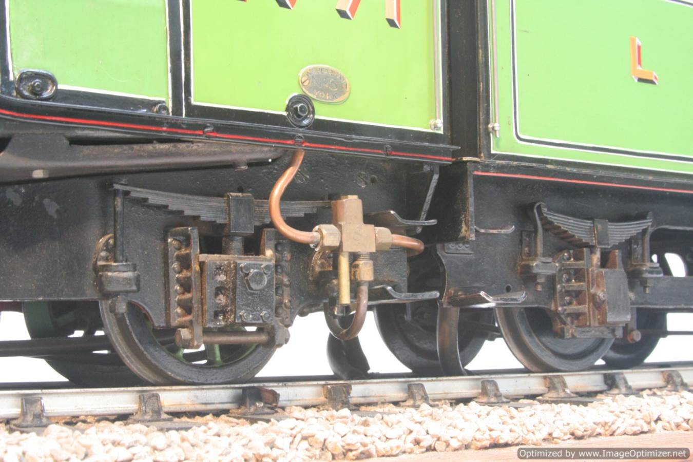 test 3 and a half inch gauge LNER V2 Green Arrow live steam model for sale 36-Optimized