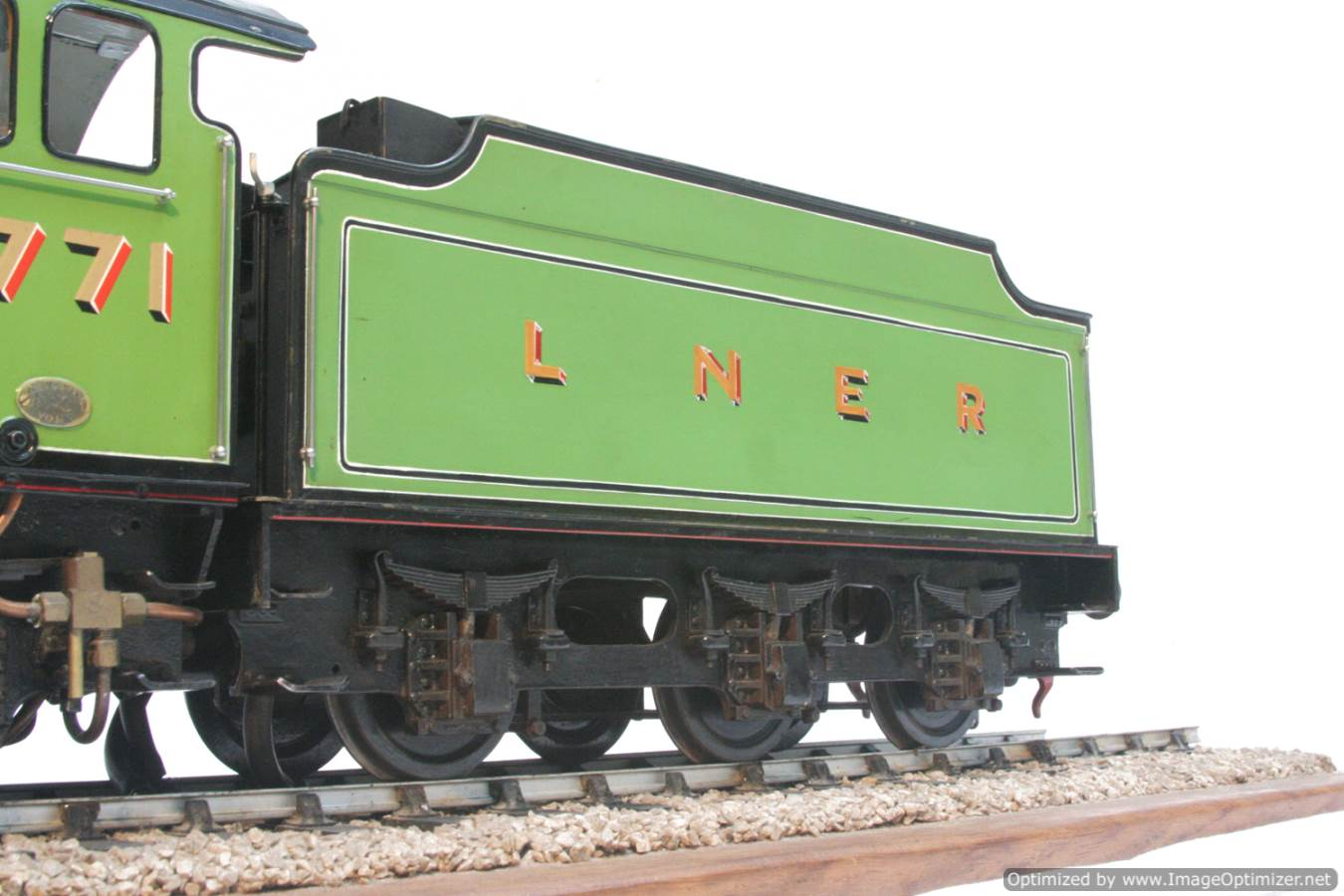 test 3 and a half inch gauge LNER V2 Green Arrow live steam model for sale 37-Optimized