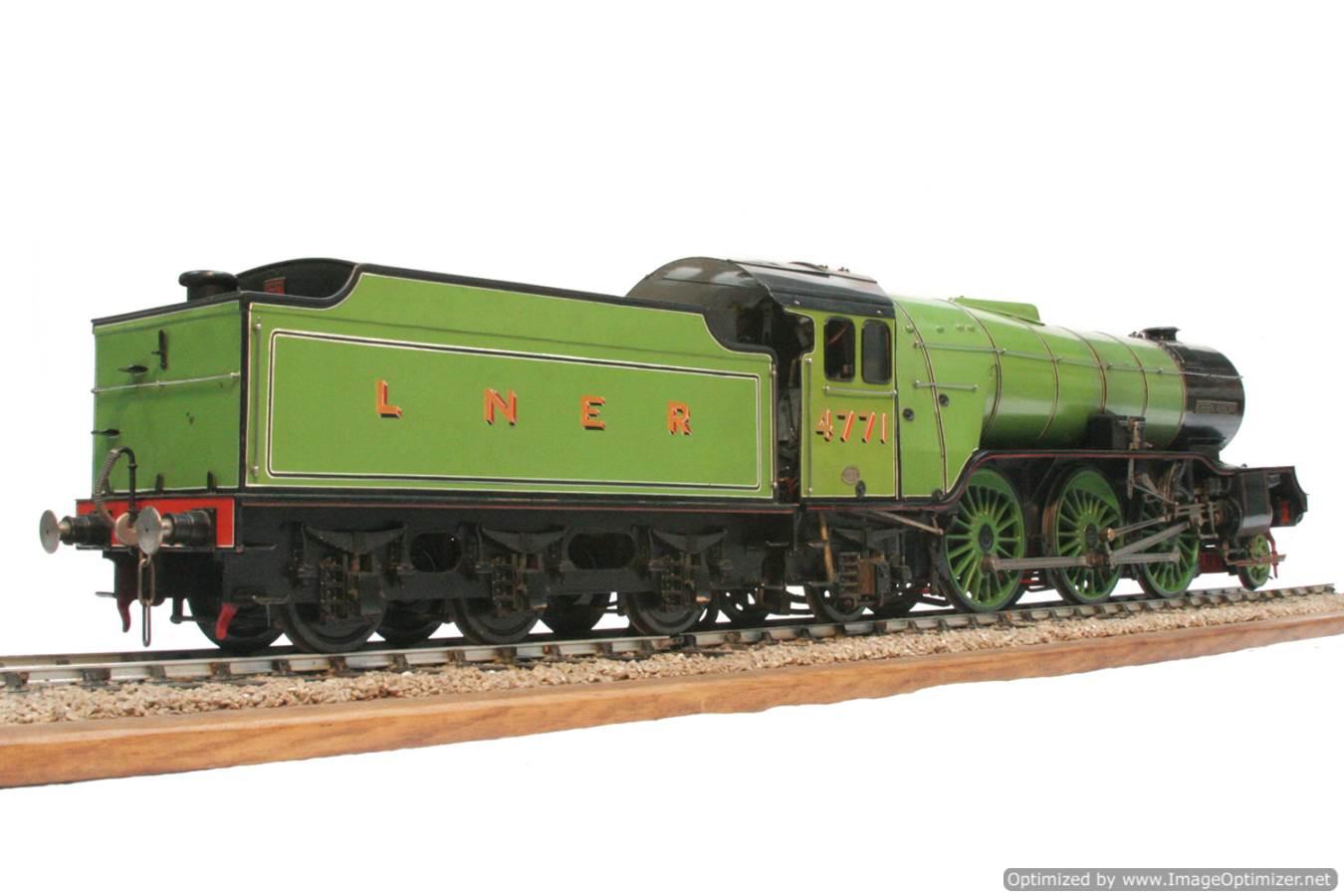 test 3 and a half inch gauge LNER V2 Green Arrow live steam model for sale 38-Optimized