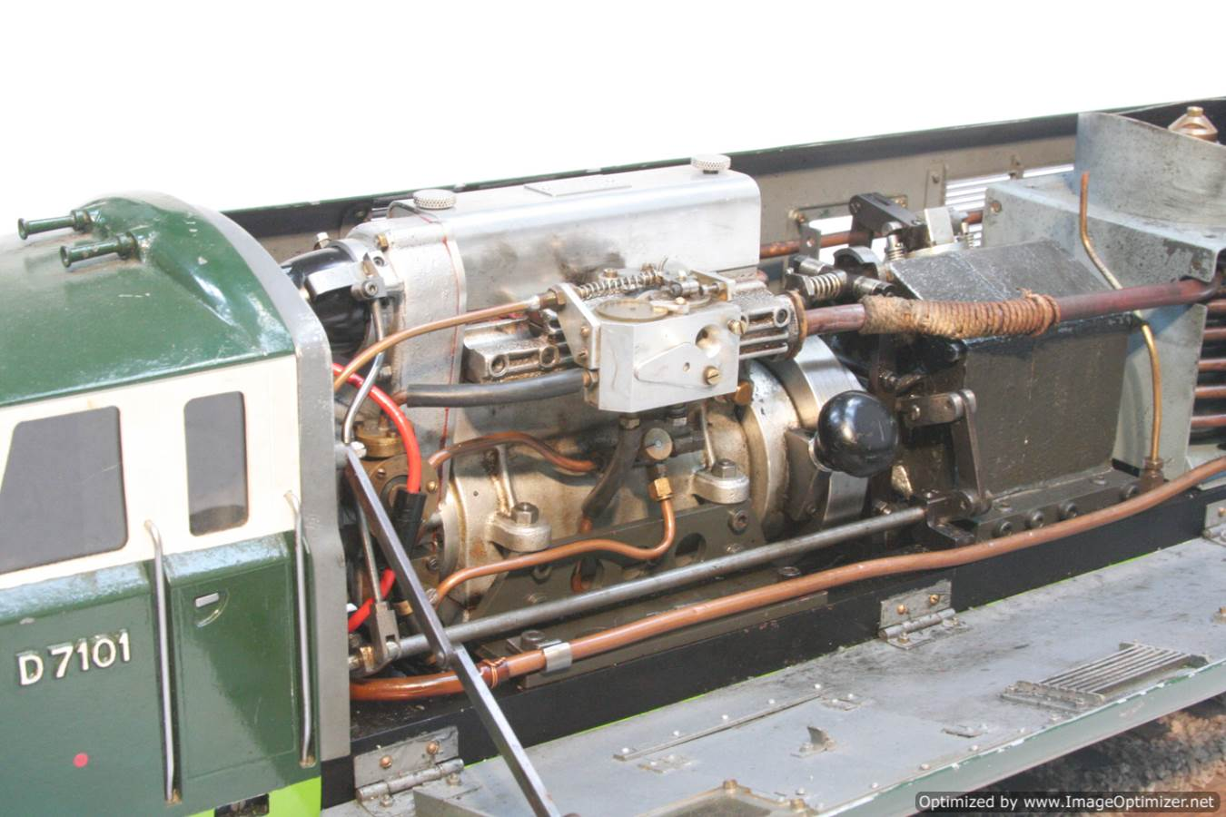 test 3 and a half inch gauge Hymek BR Class 35 diesel miniature locomotive for sale 40-Optimized