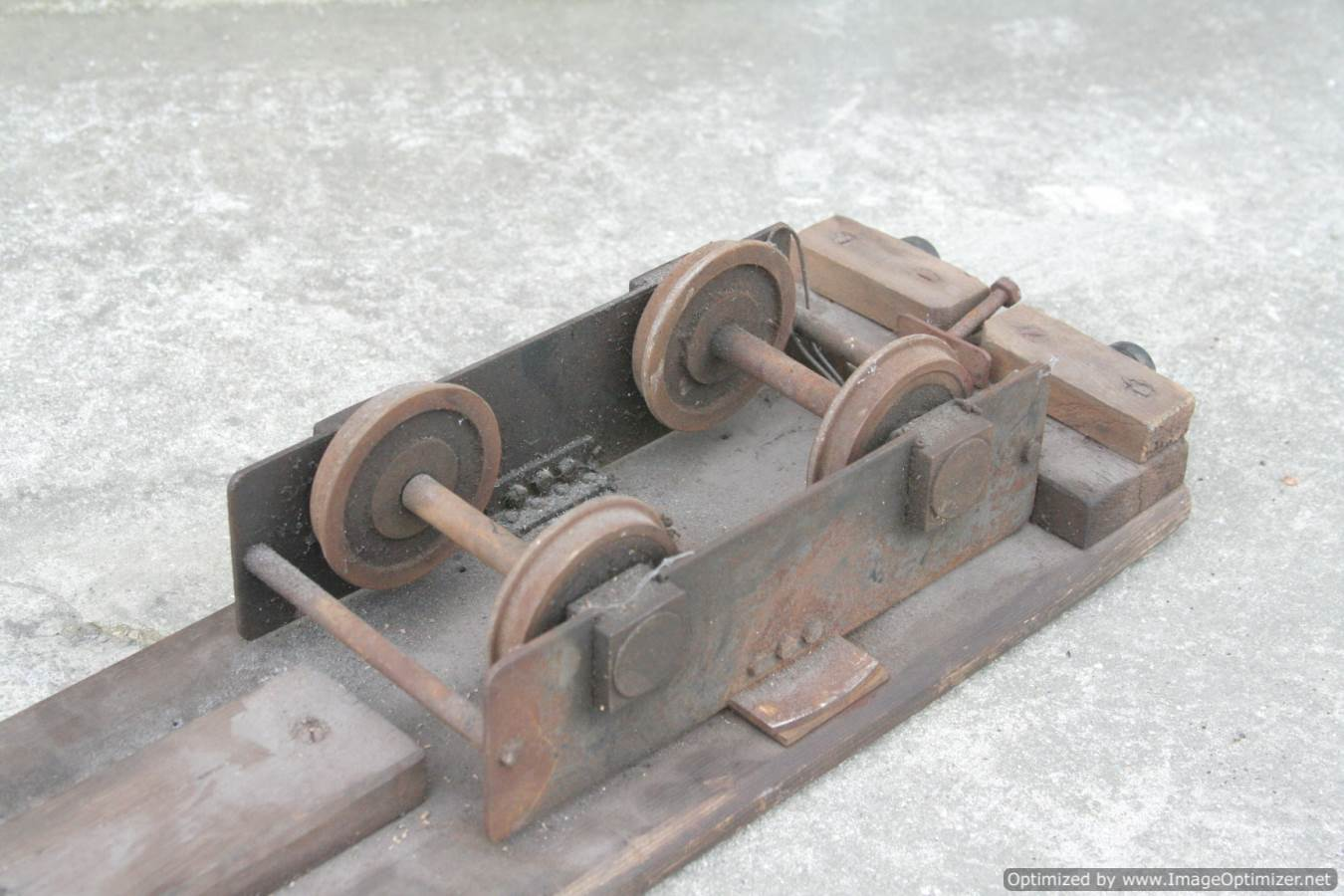 test 3 and a half inch gauge riding truck for sale 02