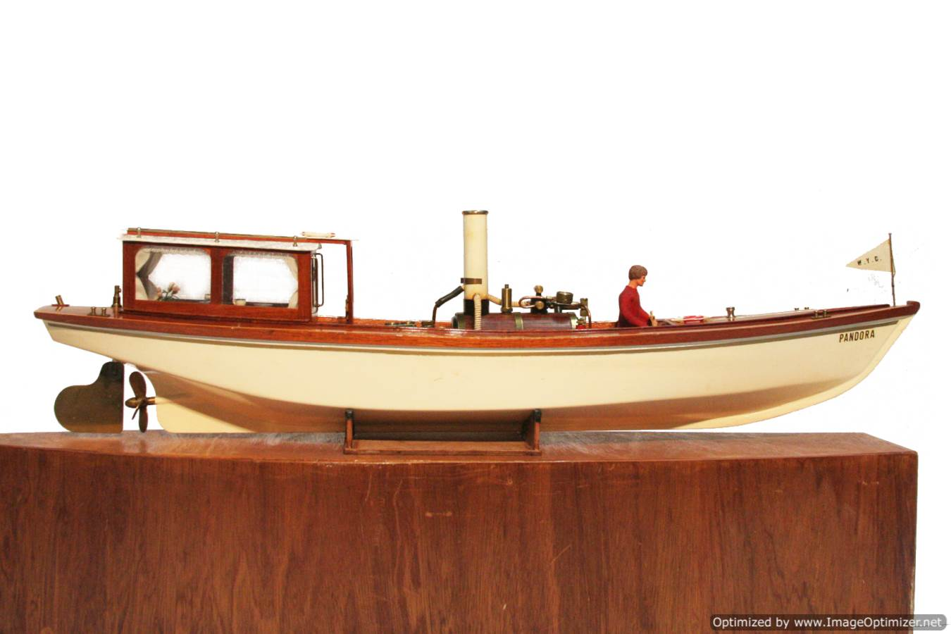 test Scale model Windermere steam launch Pandora for sale 23-Optimized