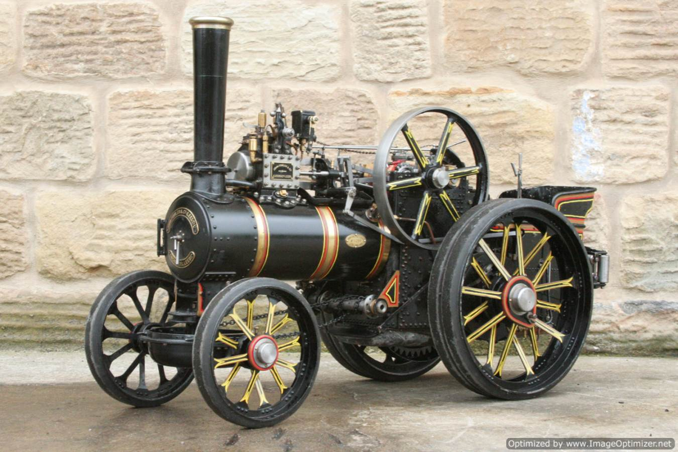 test 2 inch scale Fowler A7 traction engine for sale 01