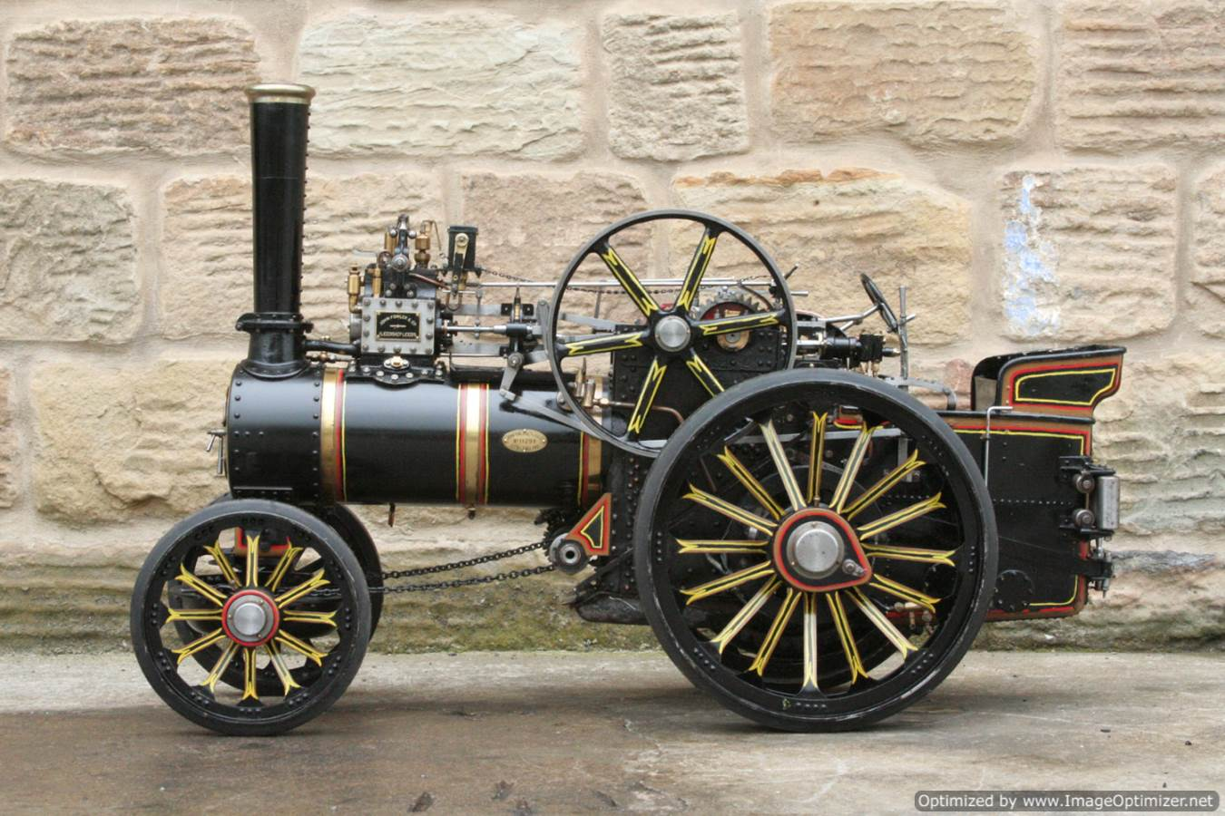 test 2 inch scale Fowler A7 traction engine for sale 09