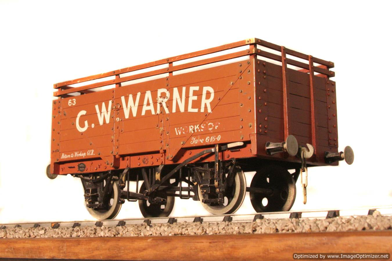 test CW Warner live steam wagon for sale 08 Optimized
