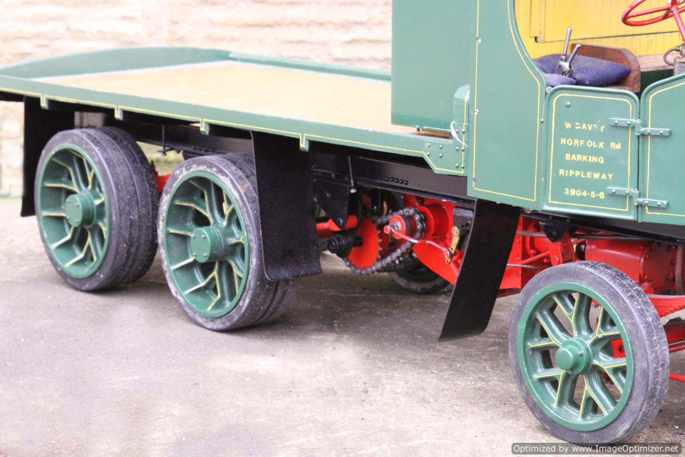 test Cayton twin axle live steam lorry for sale 05 Optimized