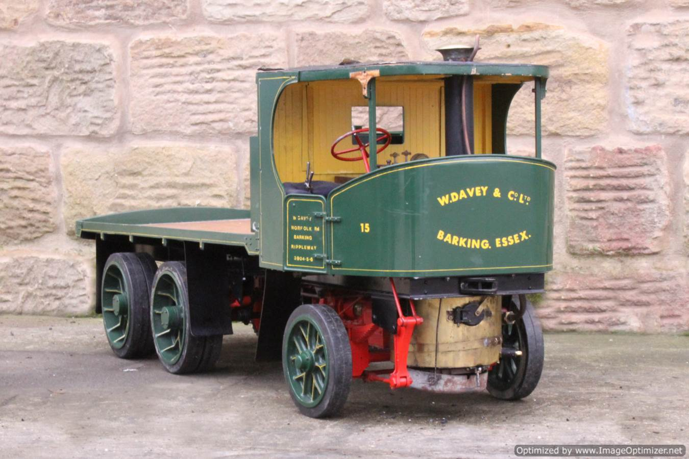 test Cayton twin axle live steam lorry for sale 07 Optimized