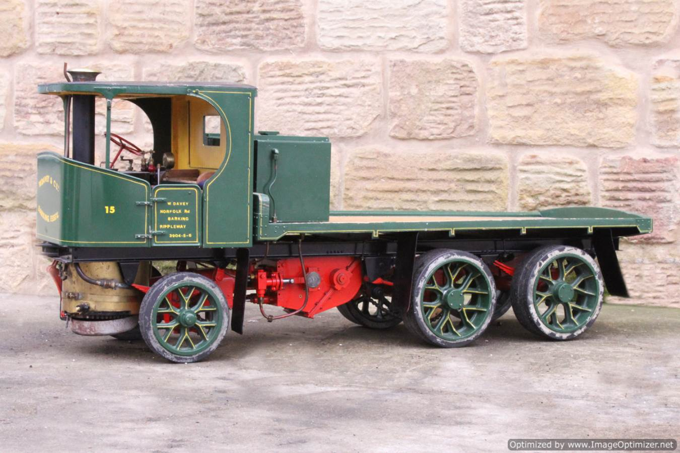 test Cayton twin axle live steam lorry for sale 08 Optimized