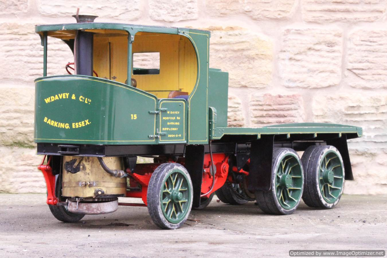 test Cayton twin axle live steam lorry for sale 09 Optimized