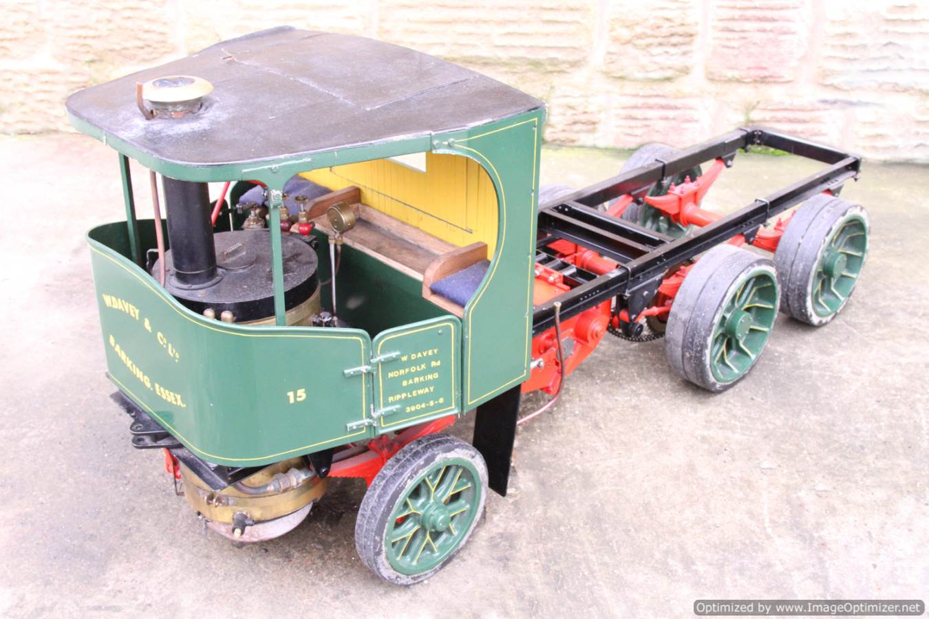 test Cayton twin axle live steam lorry for sale 17 Optimized