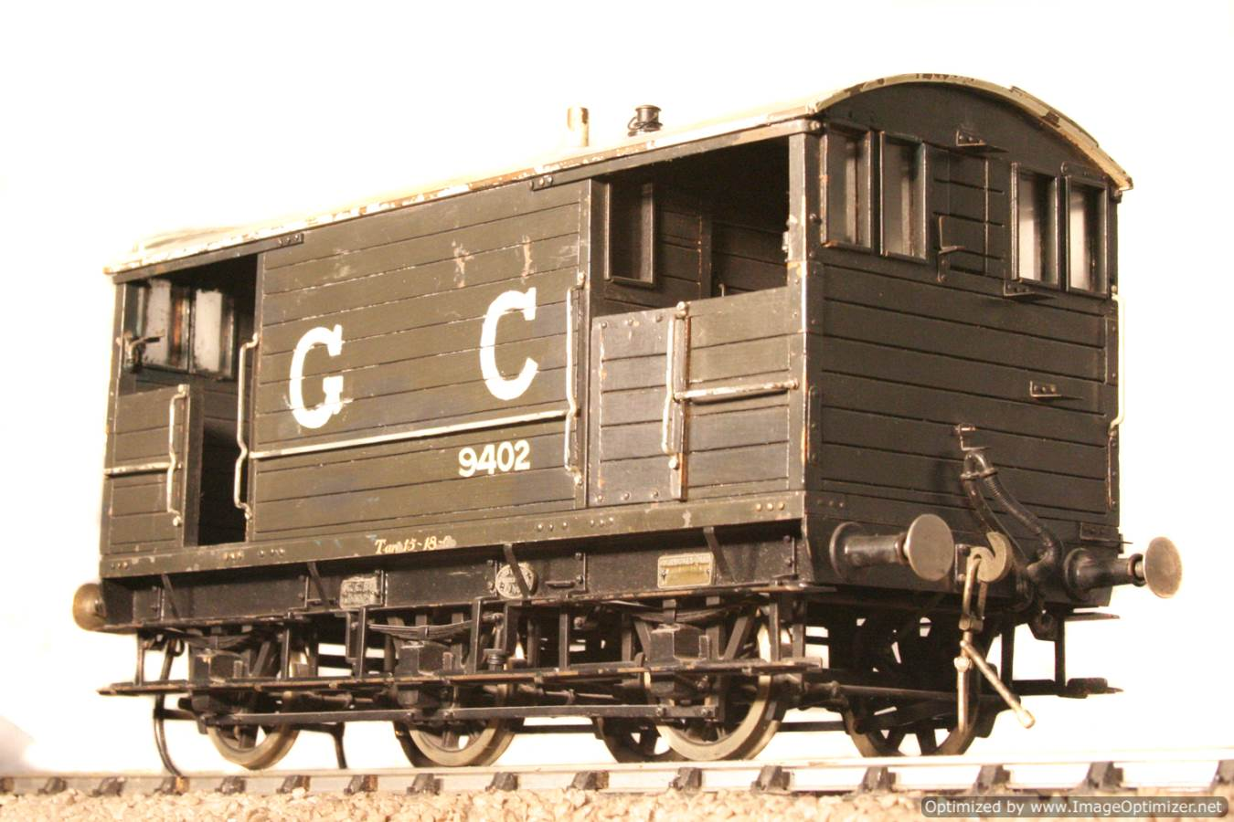 test Great Central Railway Guards Van live steam model for sale 01 Optimized