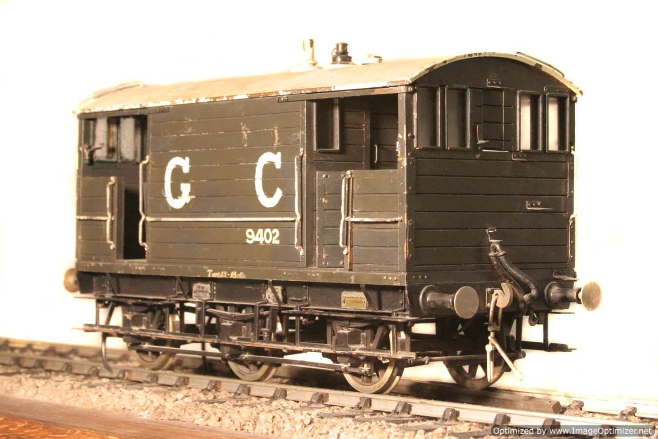 test Great Central Railway Guards Van live steam model for sale 02 Optimized