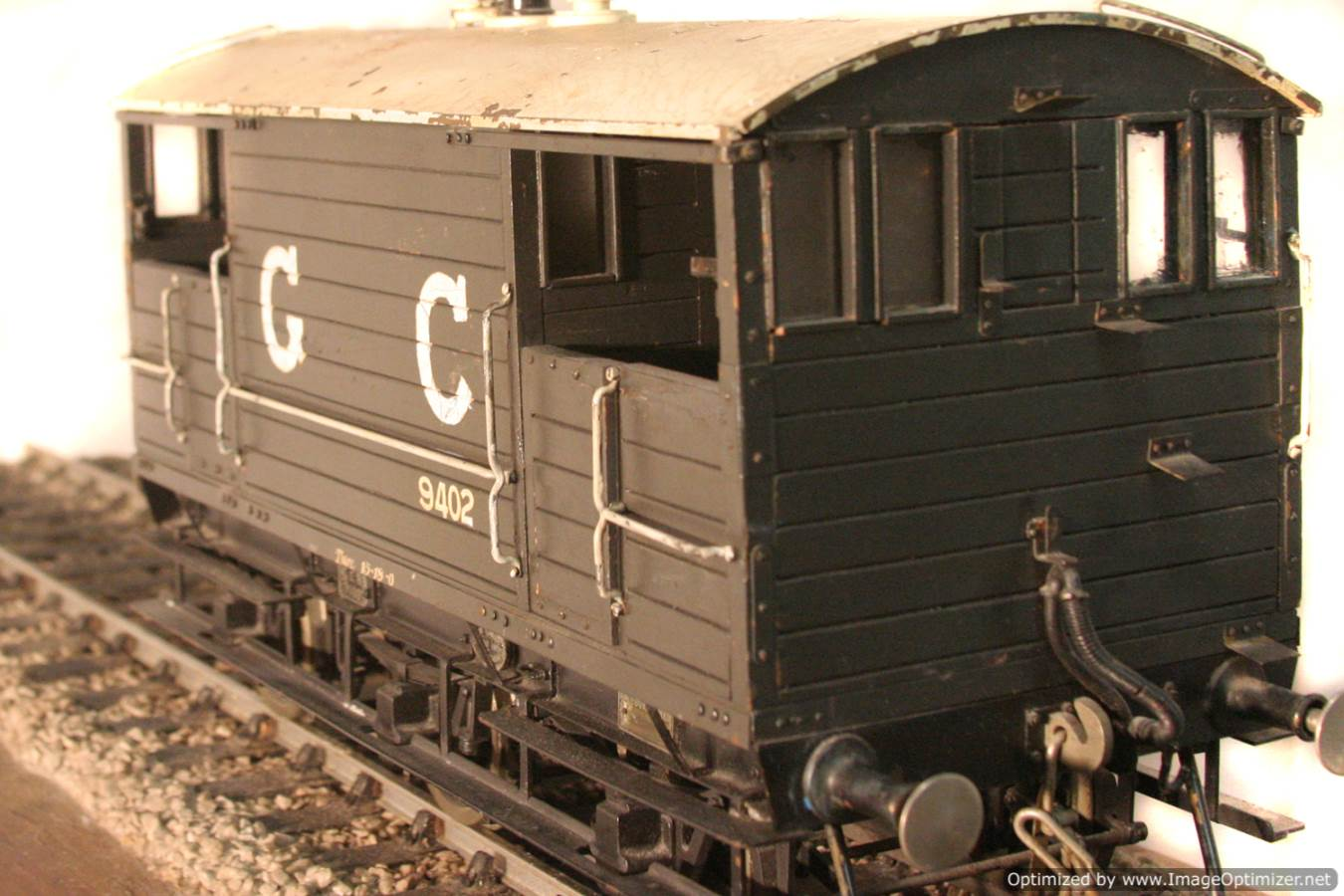 test Great Central Railway Guards Van live steam model for sale 09 Optimized