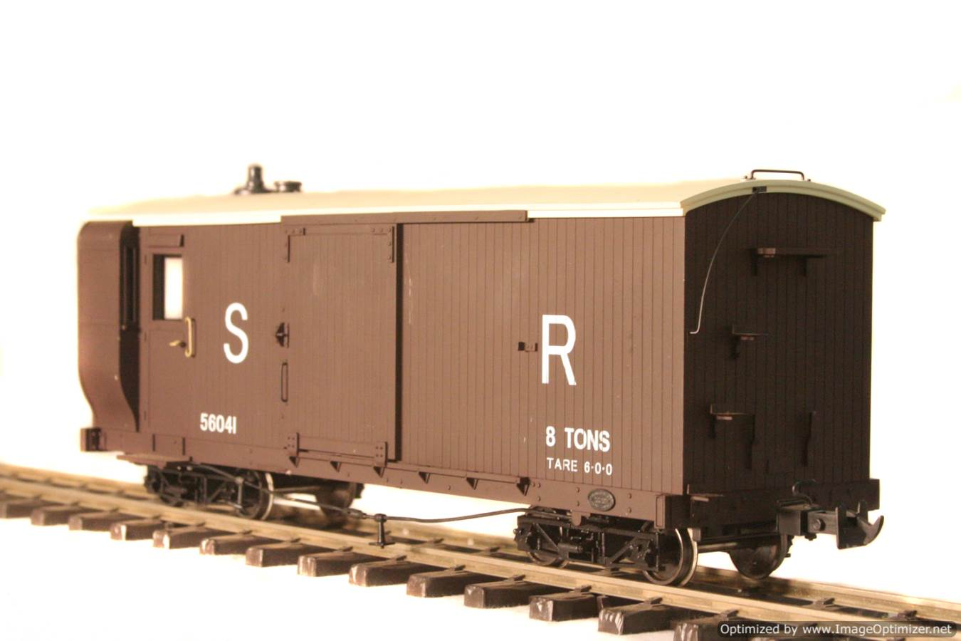 test L & B Bogie Goods Live Steam Brake Van for sale 01 Optimized