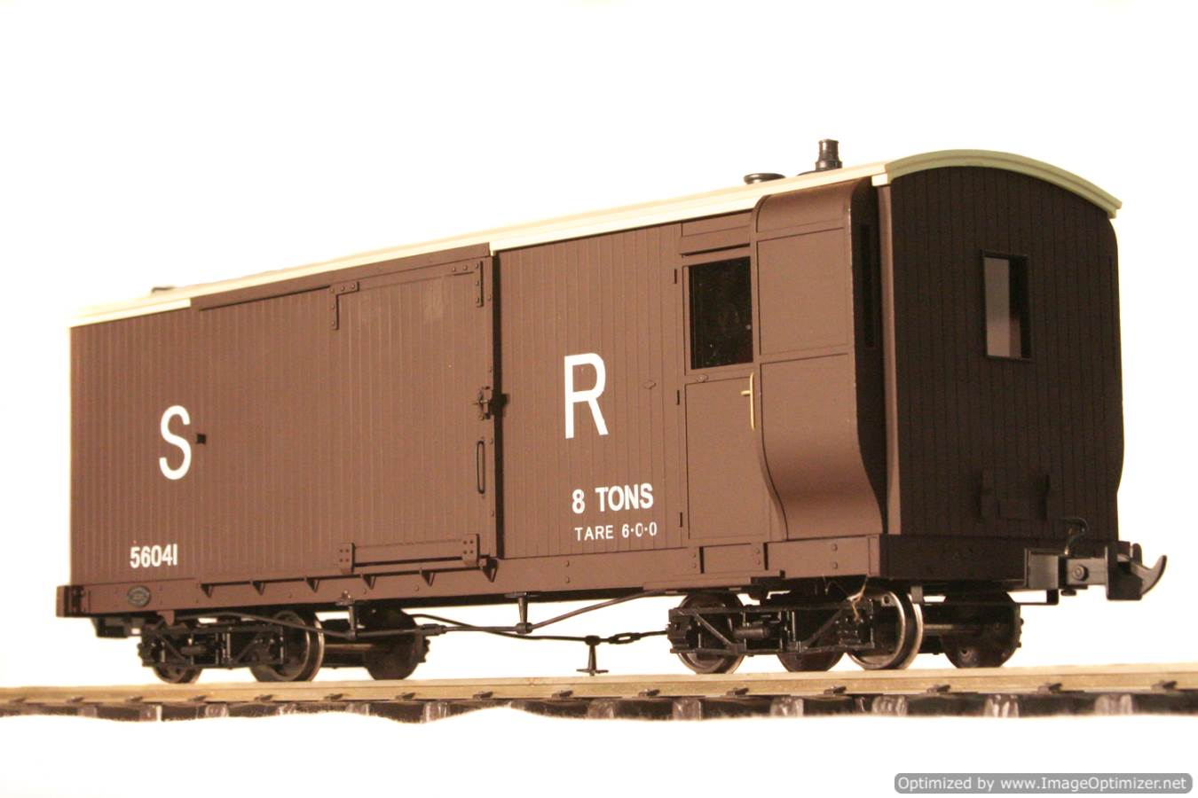 test L & B Bogie Goods Live Steam Brake Van for sale 04 Optimized