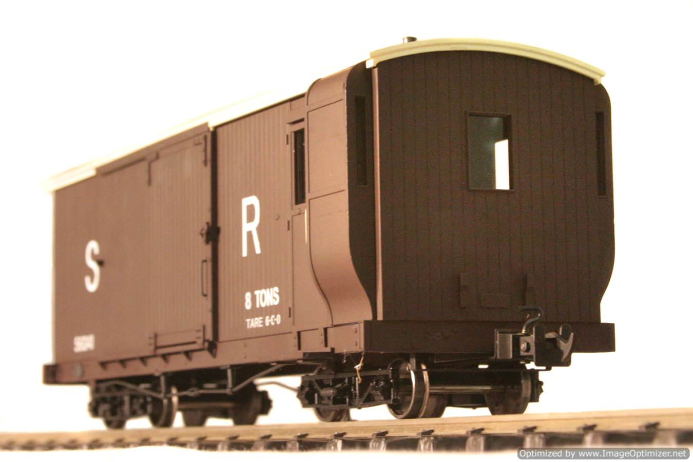 test L & B Bogie Goods Live Steam Brake Van for sale 05 Optimized
