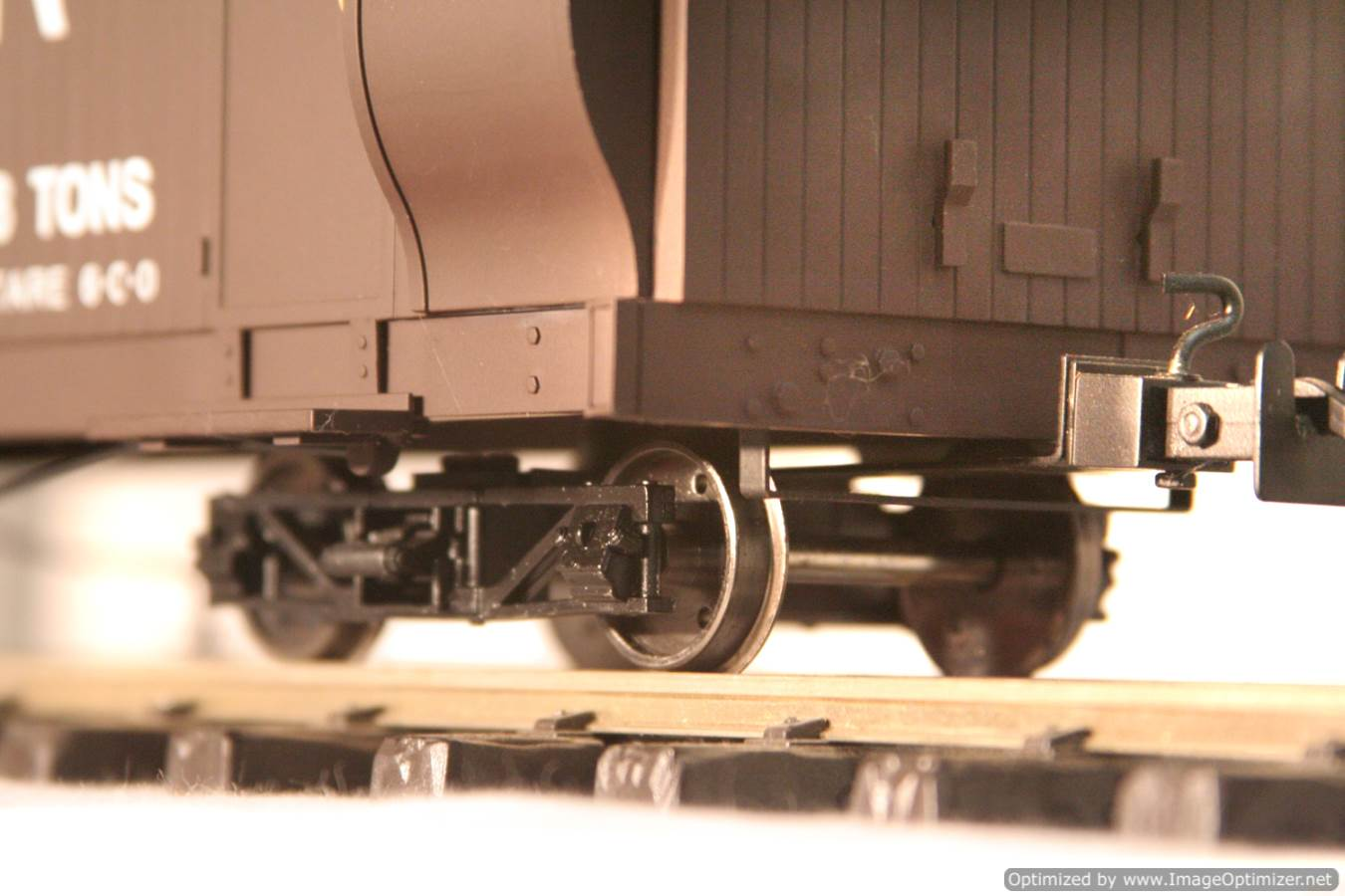 test L & B Bogie Goods Live Steam Brake Van for sale 06 Optimized