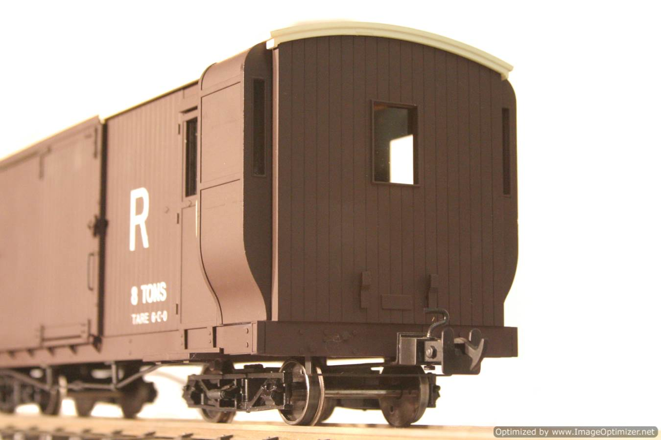 test L & B Bogie Goods Live Steam Brake Van for sale 07 Optimized