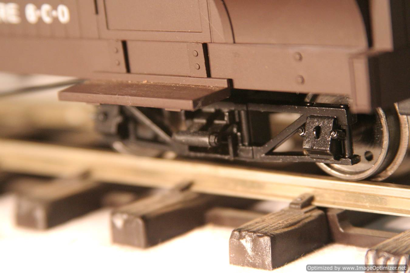 test L & B Bogie Goods Live Steam Brake Van for sale 08 Optimized